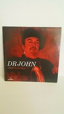 """Uk 1 Track Cd Promo Of """"I Dont Wanna Know"""" By Dr John Brand New & Original"""