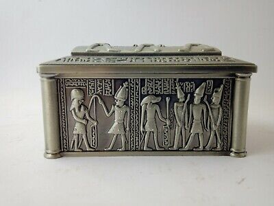 ANCIENT EGYPTIAN MODERN ANTIQUE Jewellery Box Replica Pharonic Style