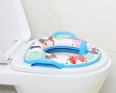 Childrens Kids Padded Soft Toilet Training Seat With Handles Baby Toddler