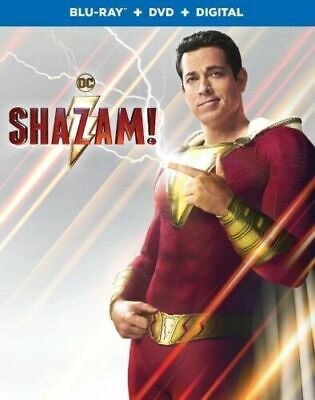 Shazam! (2019 - Blu Ray with Case/Artwork/Slip Cover (NO DVD/DIGITAL) Ships Now