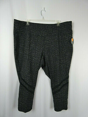 0f1913d6e5 Xersion Womens Leggings Fitted High Rise 7/8 Length Gray/Black 5X Plus Size