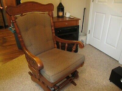 Tell City Chair Company Rocking Chair ~ Glider ~ Solid Hard Rock Maple Andover