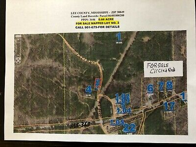 Lee County, MS; 0.66 Acre Plot 13.4 Mles to City Tupelo--an Ideal Home Site