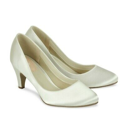 Ivory Satin Wedding Shoes Paradox Pink Affection; 2 SIZES