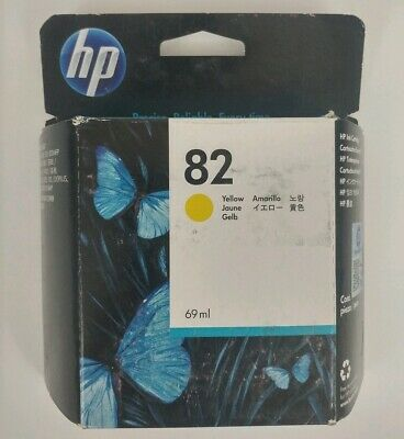 Genuine Hewlett-Packard HP 82 Yellow 69 mL C4913A Ink Cartridge Exp. June 2016