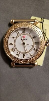 ec0748458 MICHELE CABER TOPAZ Gold Diamond Dial Watch MW16A41B1963 (Head Only ...