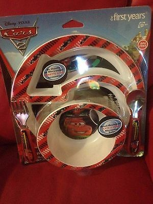 Disney Cars THE FIRST YEARS  4 piece feeding set bnip free post (d2, nrl2to25)