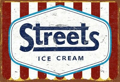 NEW Streets Ice Cream tin metal sign