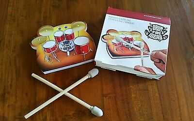 Paladone stationery set drum up some ideas note pad 2 pencils new (acc36)