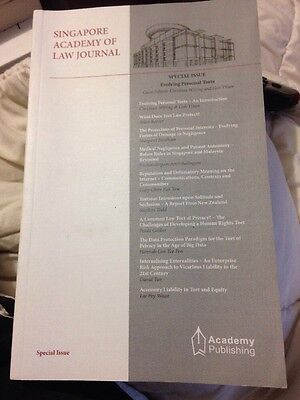 Singapore Academy Of Law Journal. Free Post (T)