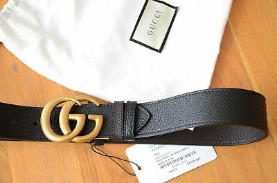 aeb495999 Gucci GG Reversible Marmont leather belt Double GG buckle 75 / 30 fits 24-26