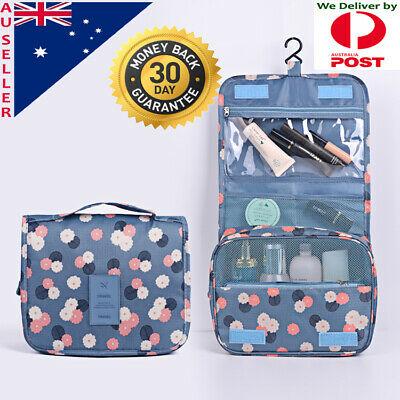 Travel Cosmetic MakeUp Storage Folding Hanging Organise Toiletry Multi Pouch Bag