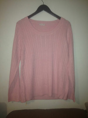 Madison Rose Pink Cable Knit Jumper Bnwt Sz Medium Free Postage Rrp $89.95 F91