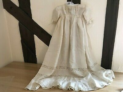 Vintage cream silk and lace christening gown