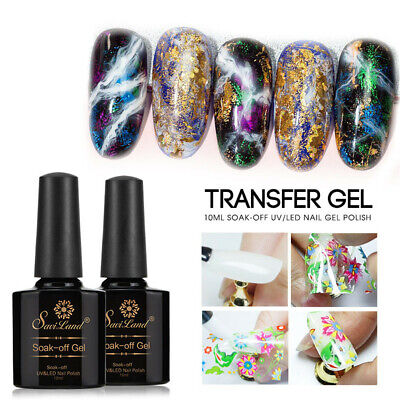 Art Decal Foil Star Nail Glue Starry Sticker Adhesive Transfer Paper UV Gel