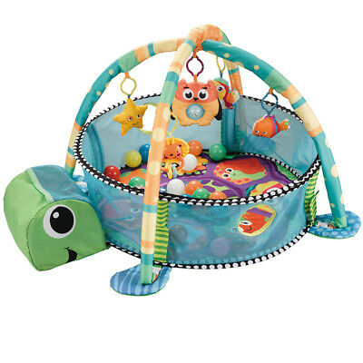 Turtle Baby Gym 3 in 1 Activity Play Floor Mat Ball Pit Toys Babies UK Seller