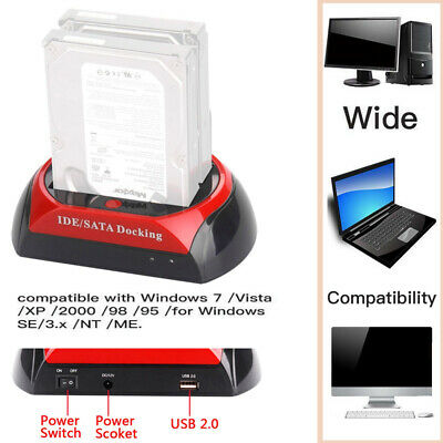 "2.5 ""3.5"" Dual Hard`Drive Docking station per HDD Lettore di schede per dock USB"