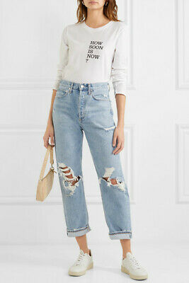 83b37a948a AGOLDE '90S MID Rise Loose Fit Jeans Distressed Ripped Size 24 ...