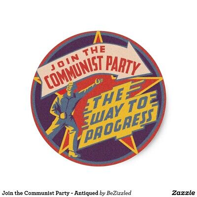 Vintage - Join the communist party 1 - Badge 25mm Button Pin