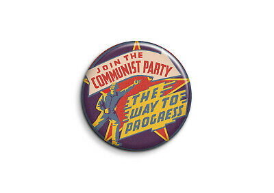 Vintage - Join the communist party 1 - Badge 56mm Button Pin