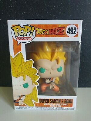 Super Saiyan 3 Goku Dragon Ball Z-Funko Pop-ORIGINAL-Exclusive-VER FOTOS DAÑO