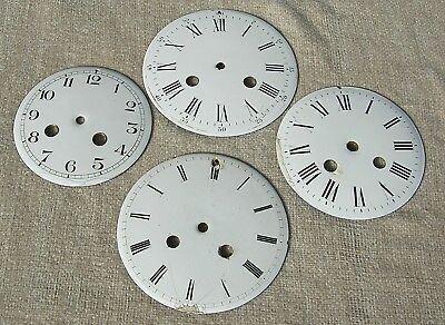 Four Enamel Mantel Clock Dials