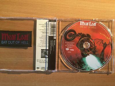 """MEAT LOAF-""""BAT OUT OF HELL""""-Rare 4 Track Pic Disc CD Single+FREE PATCH-NEW 1993"""