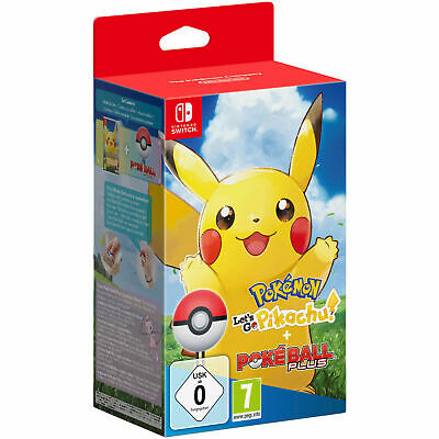 Pokemon Let´s Go Pikachu! + Poké Ball Plus Spiel Nintendo Switch NEU OVP