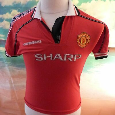 "Manchester United 1998 1999 Football Shirt 18"" pit-to-pit, 23"" length YXL Age 13"