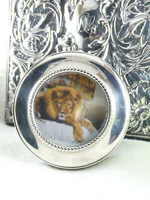 Vintage Hallmarked Sterling Silver Miniature Photo Frame Birmingham 1987