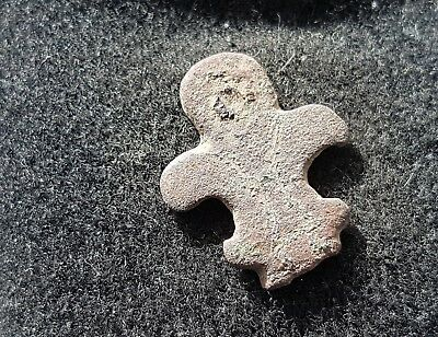 Norman medieval bronze leather mount found in England L18v