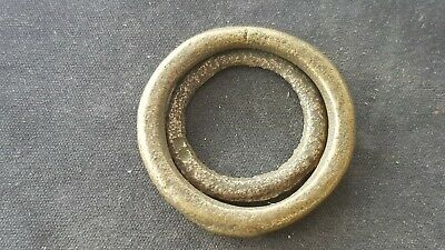 Stunning pair of Celtic BC bronze money rings. Please read description. L135x