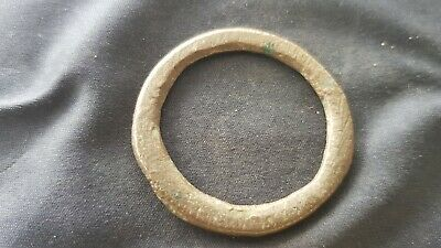 Superb ultra rare Celtic large bronze money ring. A must read description. L136i