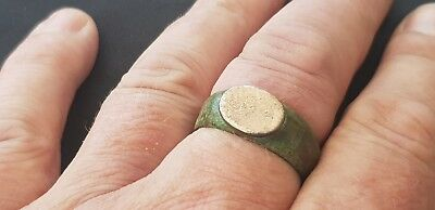 Superb huge Roman mans very strange finger ring. Please read description!. L15v