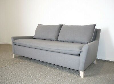 Bliss Modern Sofa RRP £1399, Grey Upholstered Couch, Retro Mid-Century West Elm