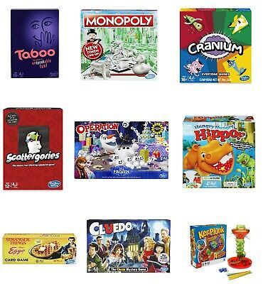 Family Board Game - Choose Classic Games for Kids Adults Family Hasbro MB Parker