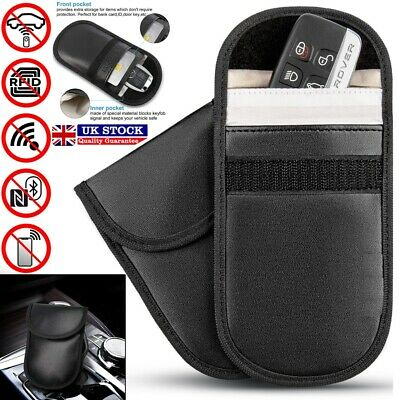 Car Key Pouch Signal RFID Blocker Faraday Cage Fob Keyless Blocking Bag Case UK