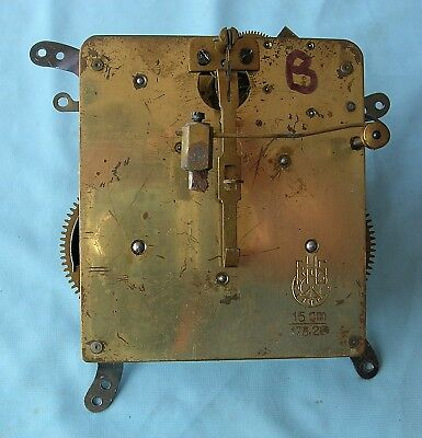 Junghams Eight Day Hour and Half Hour Strike Mantel Clock Movement