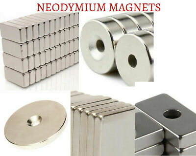 NEW Strong Rare Earth NdFeB Neodymium Magnets Block Ring Round Cuboid Experiment