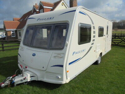 4 BERTH TOURING CARAVAN BAILEY PAGEANT CHAMPAGNE 2008 NEW CONDITION ref 4936