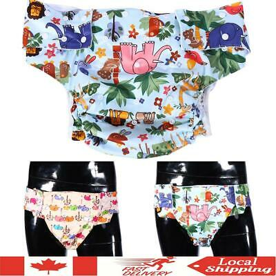 Adult Washable Reusable Soft Incontinence Cloth Diaper  Nappy Pants Adjustable
