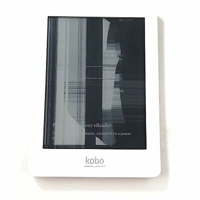 Kobo Glo eReader - 2GB, Wi-Fi, 6in - White and Pink BROKEN READ