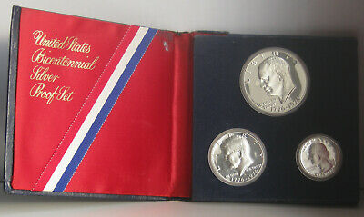 1976 United States Bicentennial Silver Proof 3 Coin Set