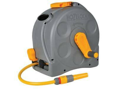 Hozelock 2415 Compact 2in1 Hose Reel with 25m Starter Hose c/w Nozzle & Fittings