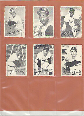 1969  OPC  O-PEE-CHEE  BASEBALL  DECKLE LOT of (6) CARDS  ROBERTO CLEMENTE !