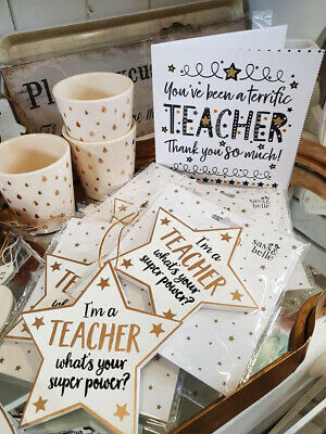 Thank you Teacher Superpower Star Plaque & card Card / gift for special  teacher