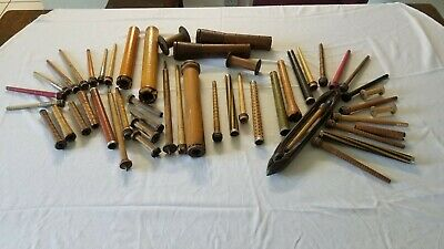 Loom Weaving Antique Shuttle Spools Bobbins Spindles