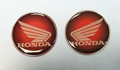 Honda Wings stickers/decals-25mm Red to Black Fade -HIGH GLOSS DOMED GEL FINISH
