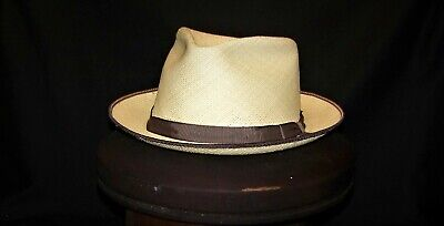 6beee9106942f3 MEN'S STETSON PANAMA STRAW HAT - L / XL Mexico Pre-owned - $19.99 ...