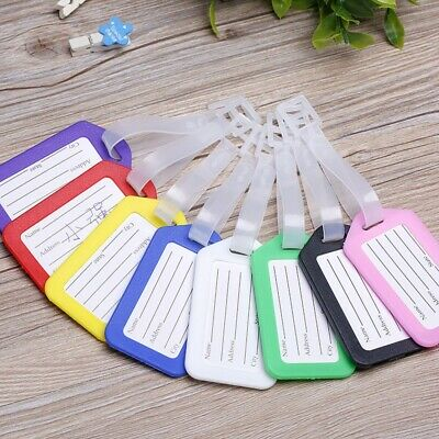 10 Travel Luggage Bag Tag Plastic Suitcase Baggage Office Travel Pilot Bags